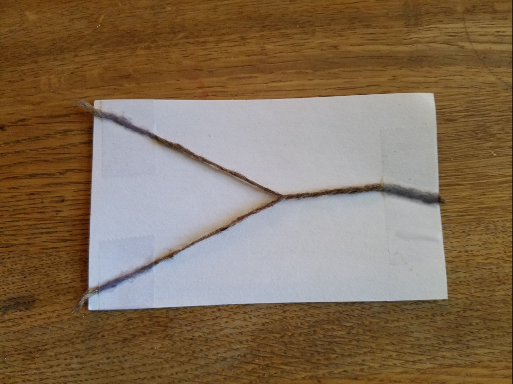 yarn on an index card