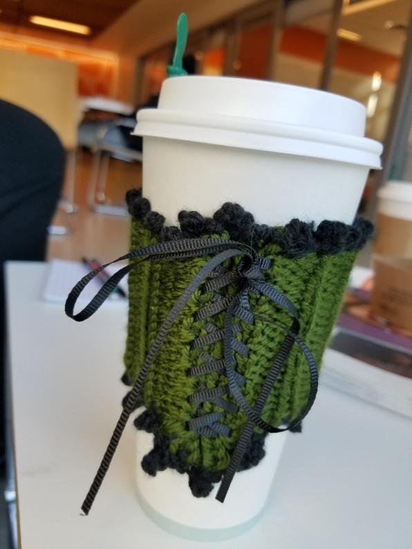 corset coffee cozy