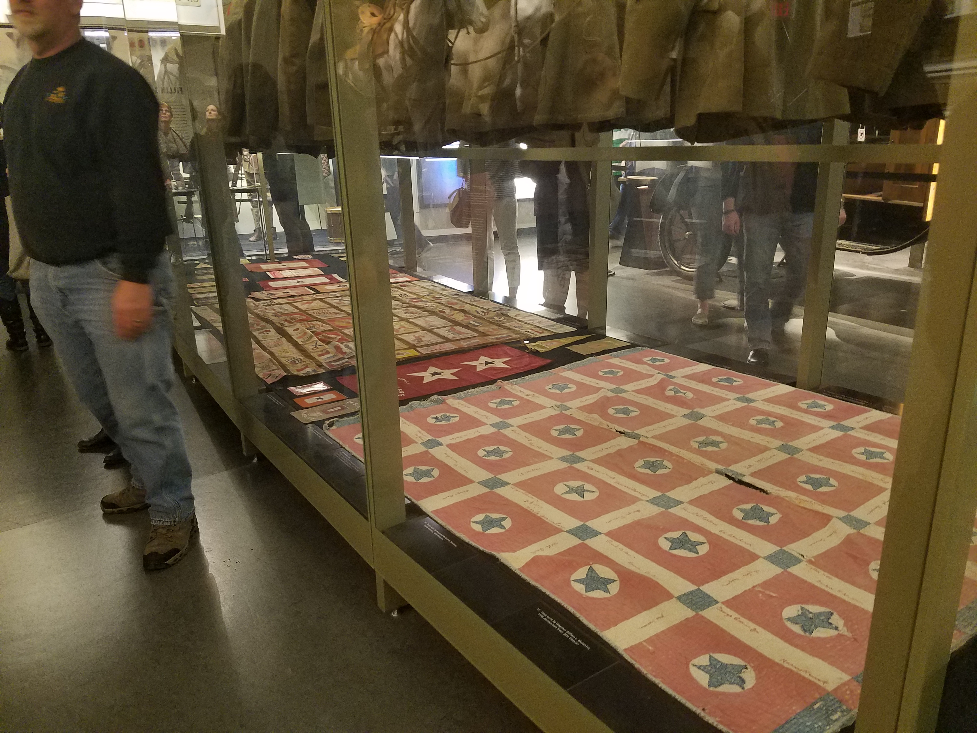 Tobacco quilts in the WWI museum