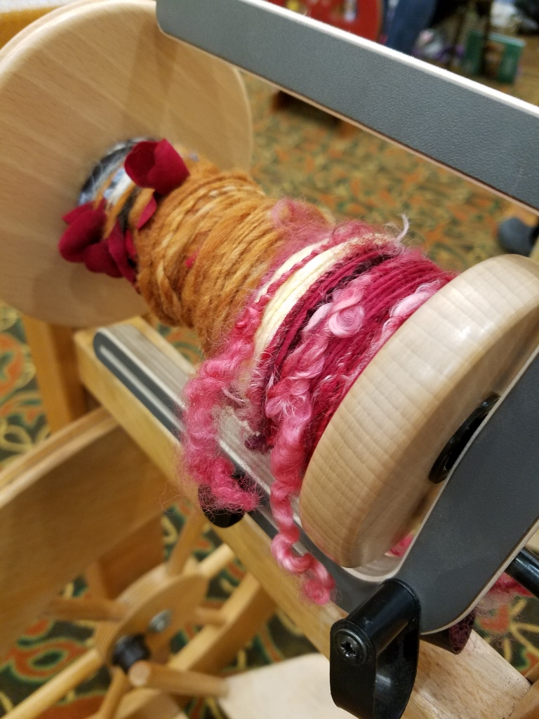 tailspun yarn on the bobbin