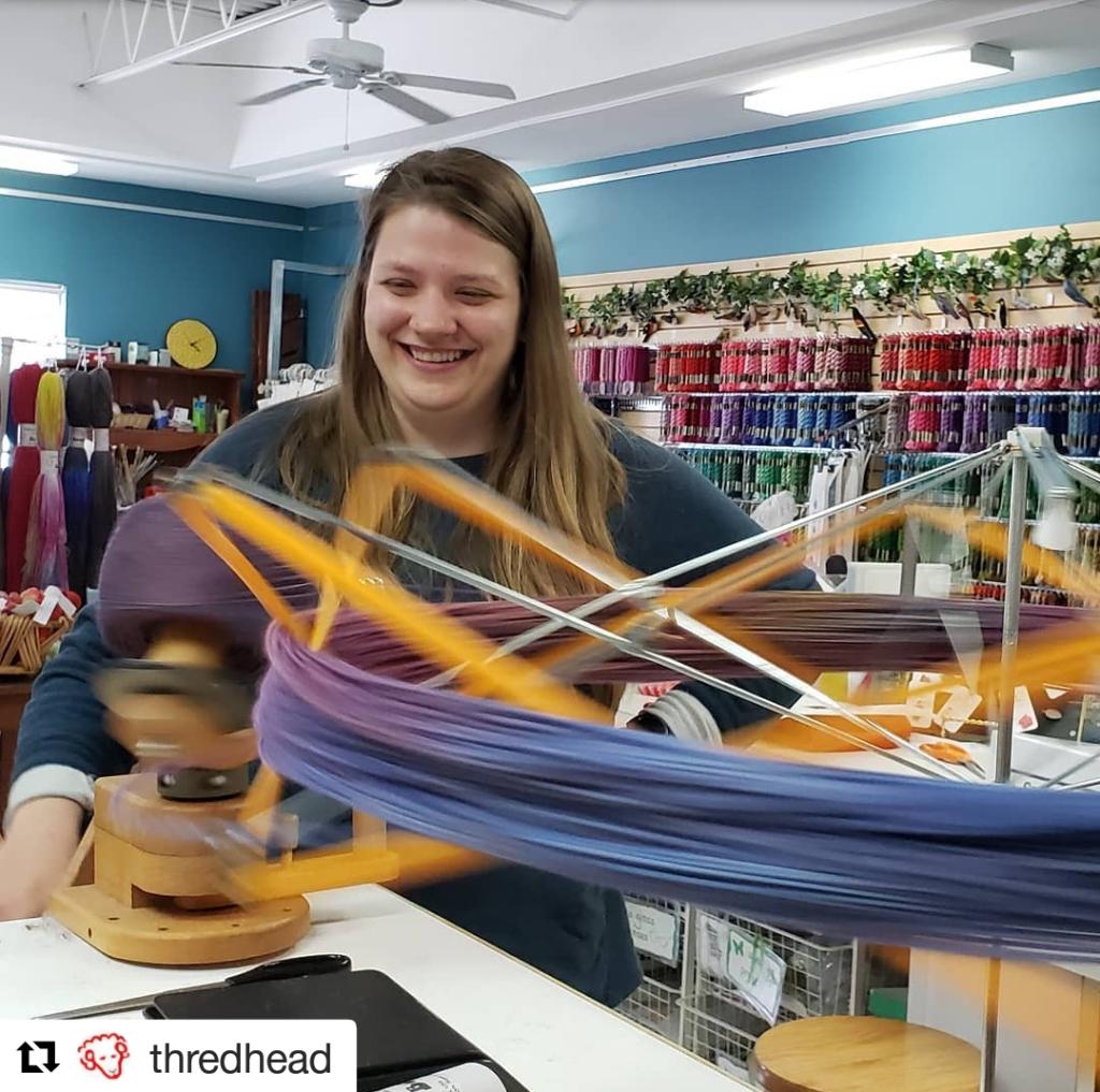 Emma winding yarn