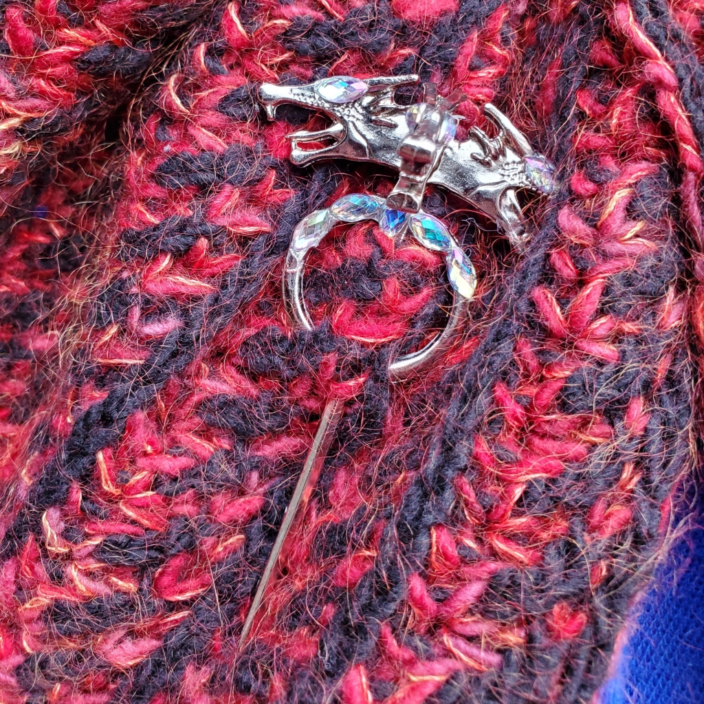 dragon shawl pin