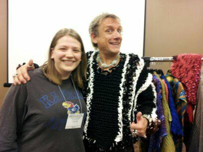 Me and StevenBe in his film sweater Indianapolis 2013