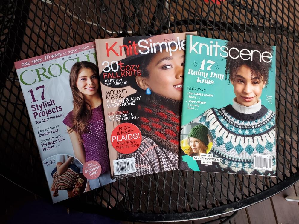 Interweave Crochet KnitSimple knitscene magazines