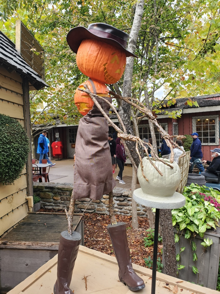 Jack-o-lantern scarecrow wheel throwing pottery