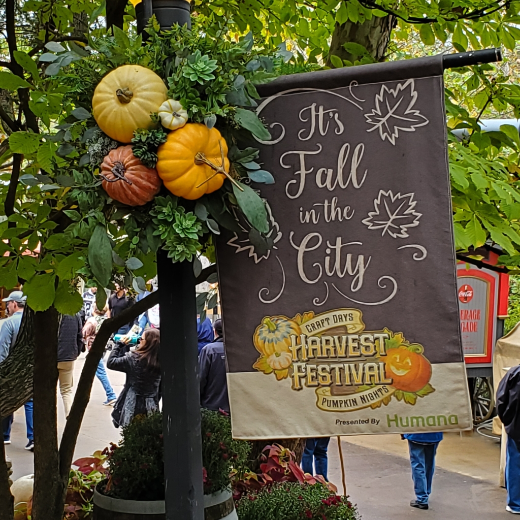 """It's Fall in the City"" Harvest Festival sign"