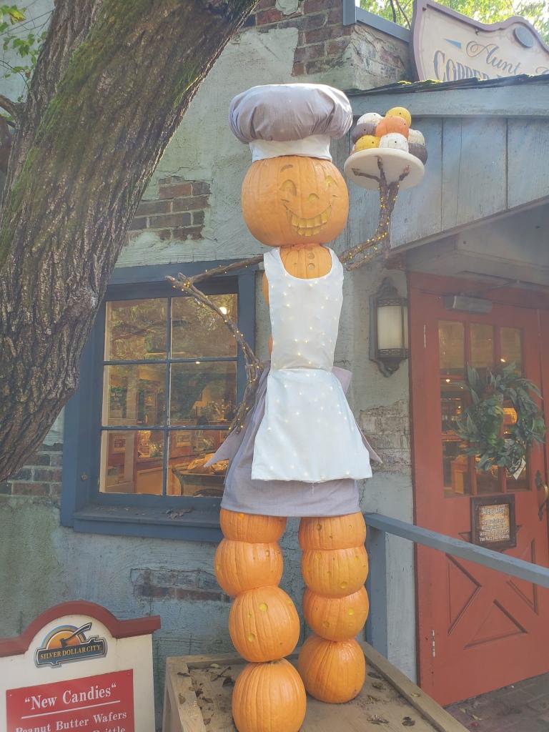 baker jack-o-lantern scarecrow
