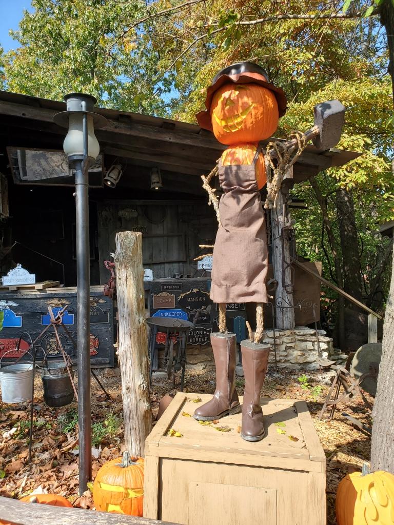Blacksmith jack-o-lantern scarecrow