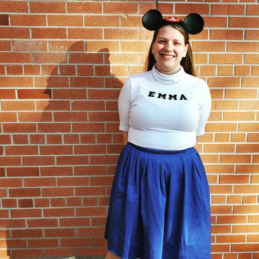 Emma in her Mouseketeer costume