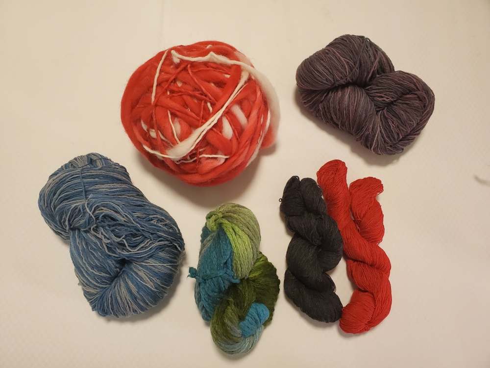 yarn purchased from School Products Yarns