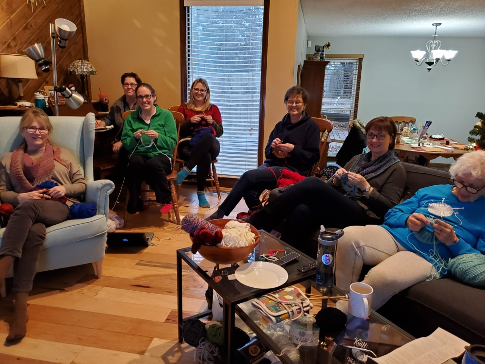 Knitters at the Knit-a-thon