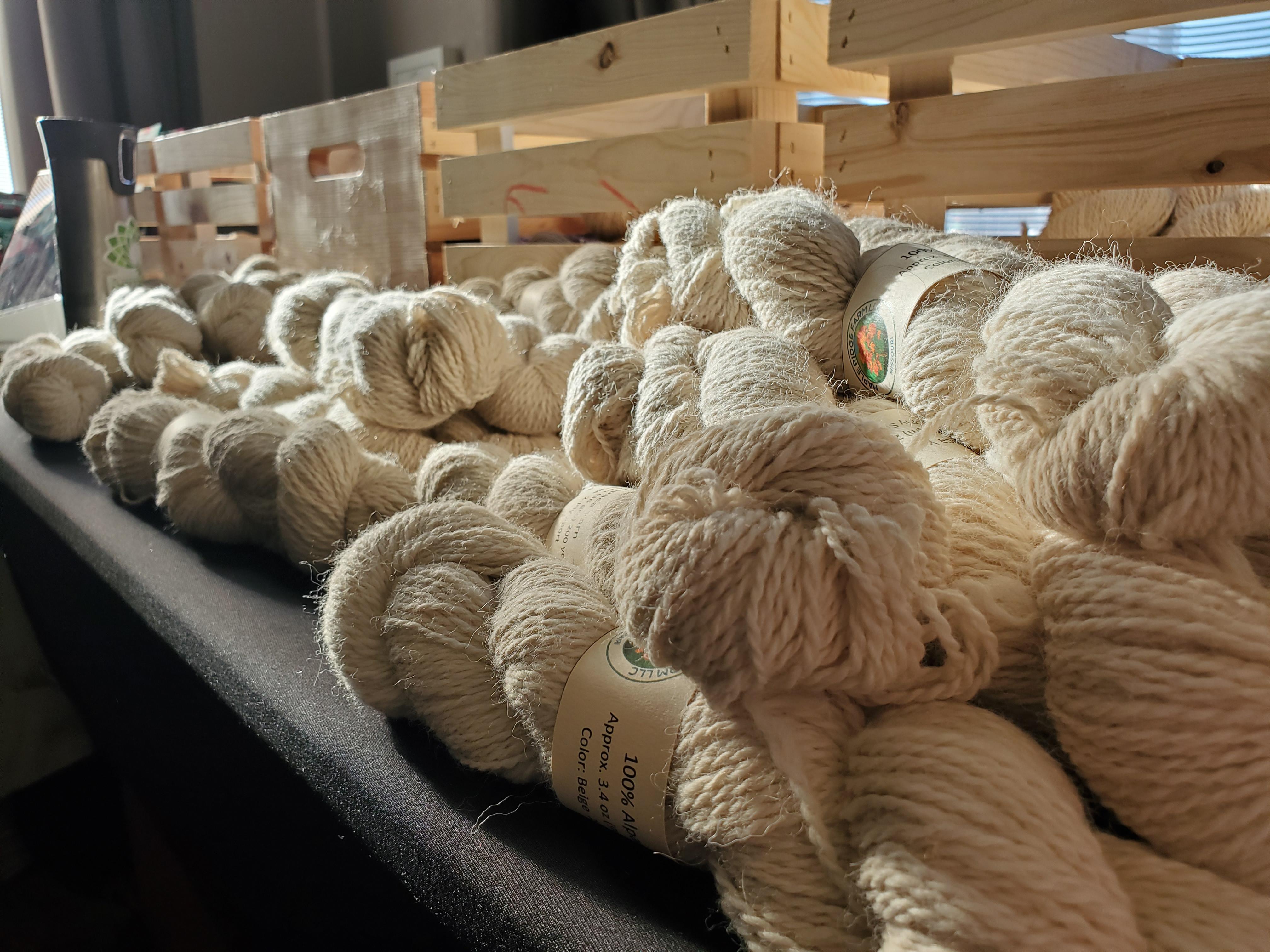 White alpaca yarn