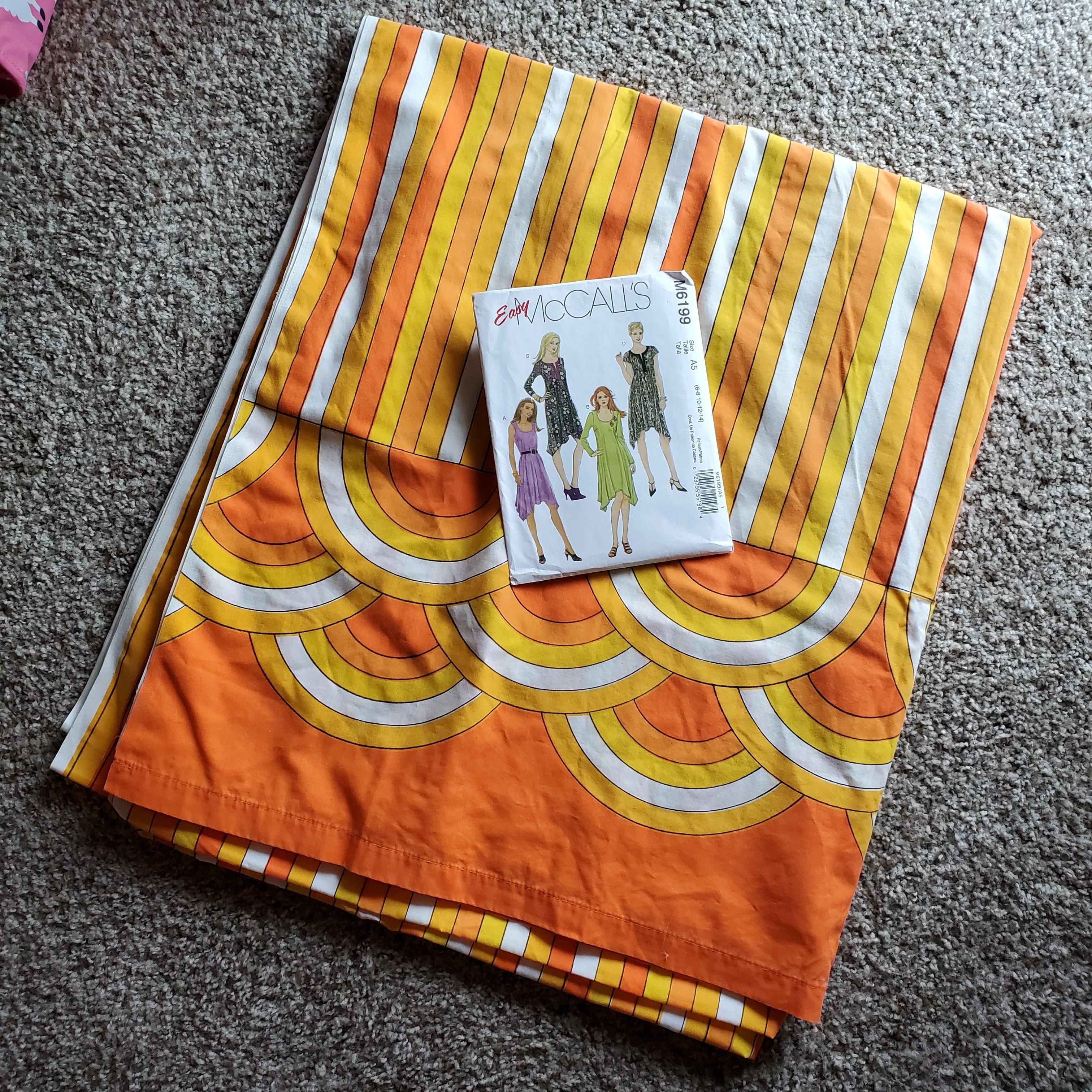 Sheet and dress pattern
