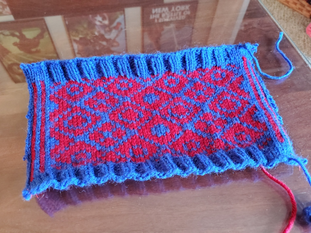 Finished colorwork swatch