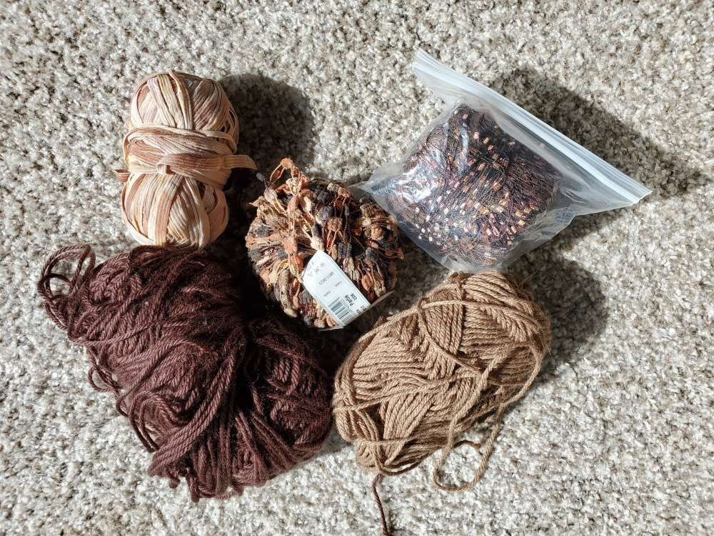Brown yarns