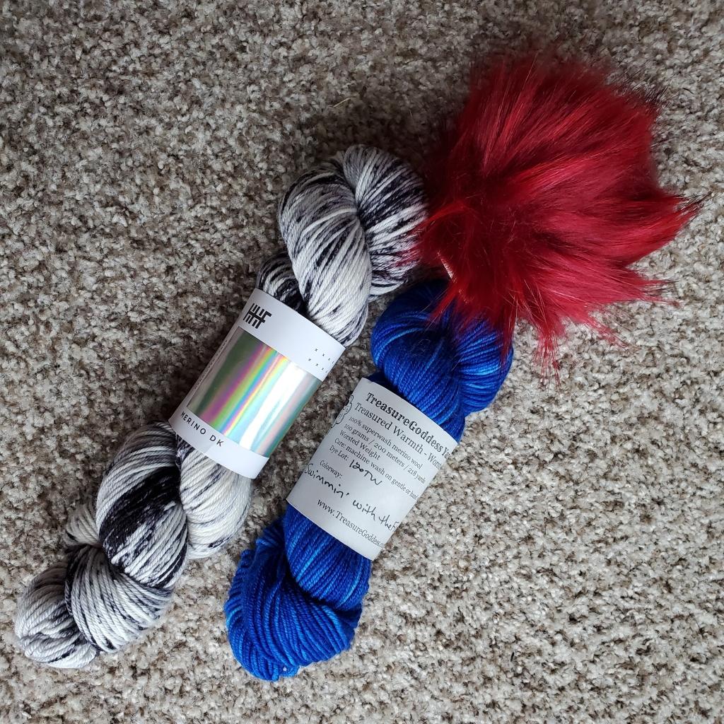 newspaper confetti hat yarn