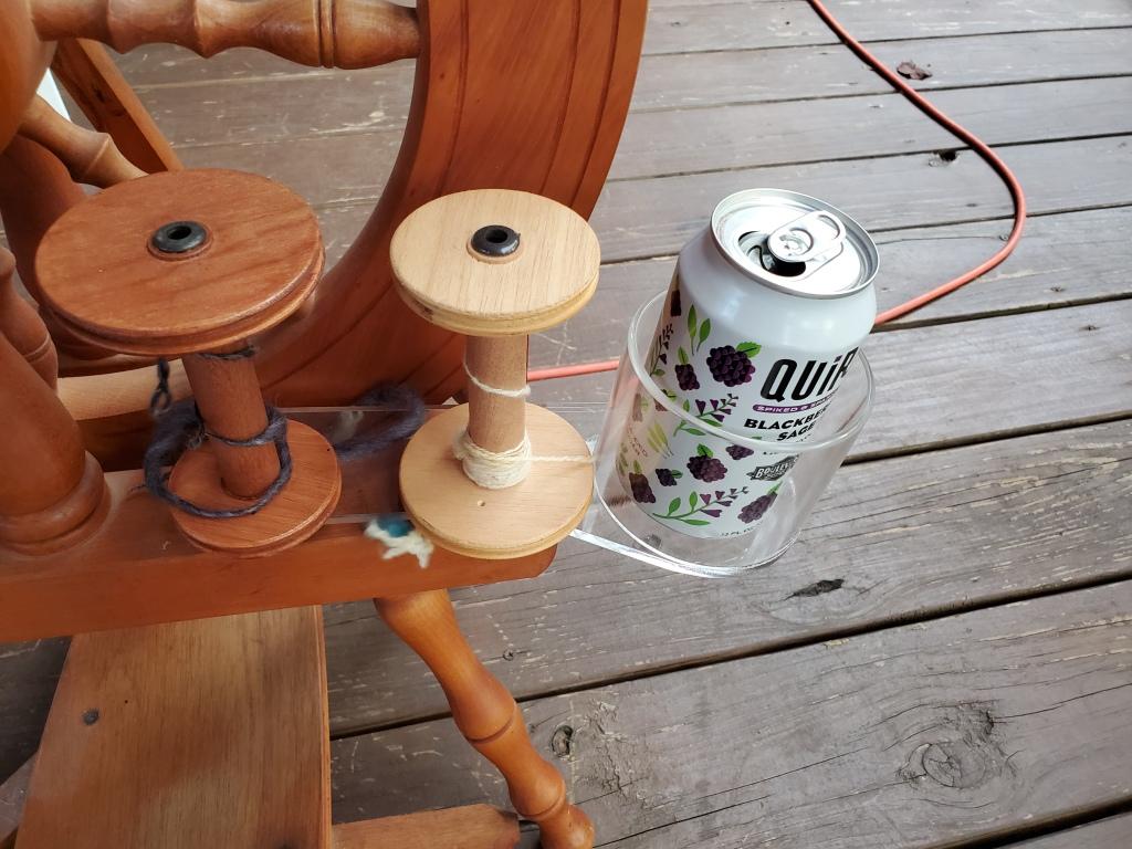 Ashford spinning wheel cup holder