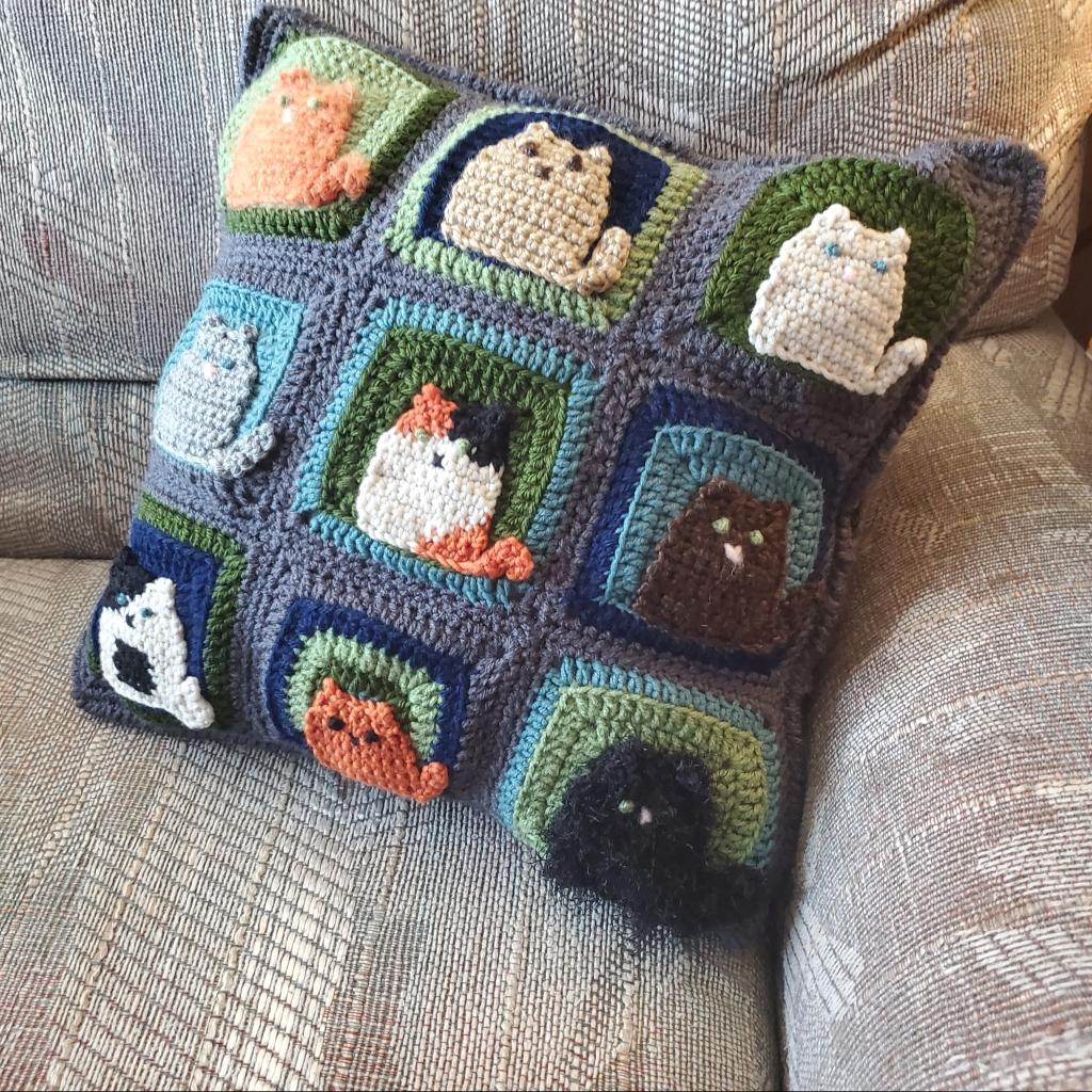 Many Cats Cushion