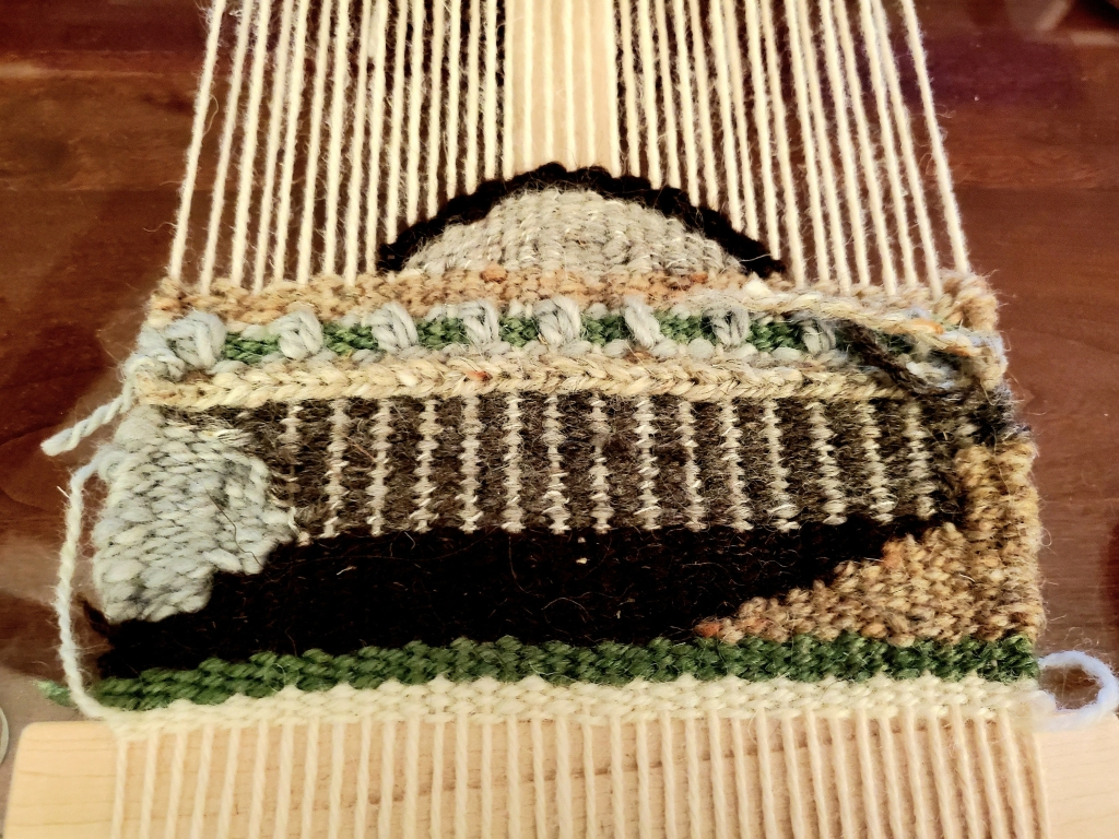 tapestry weaving in progress