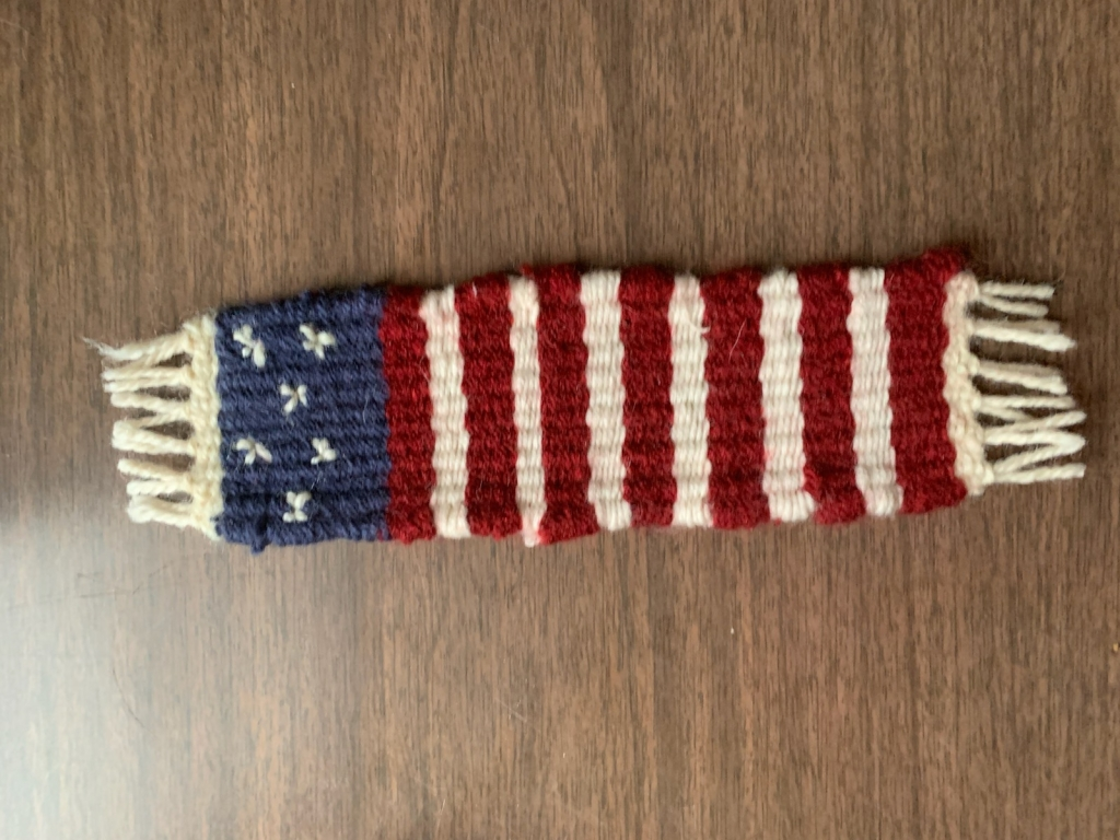 Finished Americana bookmark